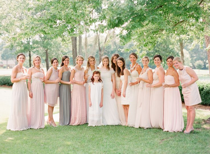 Bridesmaids dresses.  Read more - http://www.stylemepretty.com/georgia-weddings/2013/10/09/southern-wedding-at-the-shackleford-house-from-buffy-dekmar-photography/
