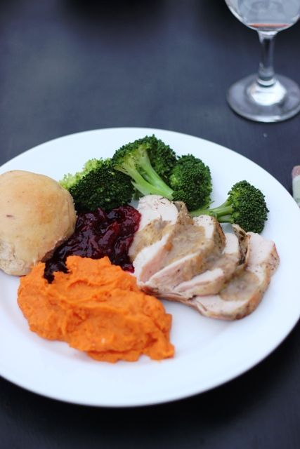 Herb-Roasted Turkey Breast - no more big bird and wasted dark meat. I make turkey breasts to waste less and enjoy a great dinner without such a lengthy cooking time. Plus, you won't throw out your back putting a whole turkey in the oven. ;)
