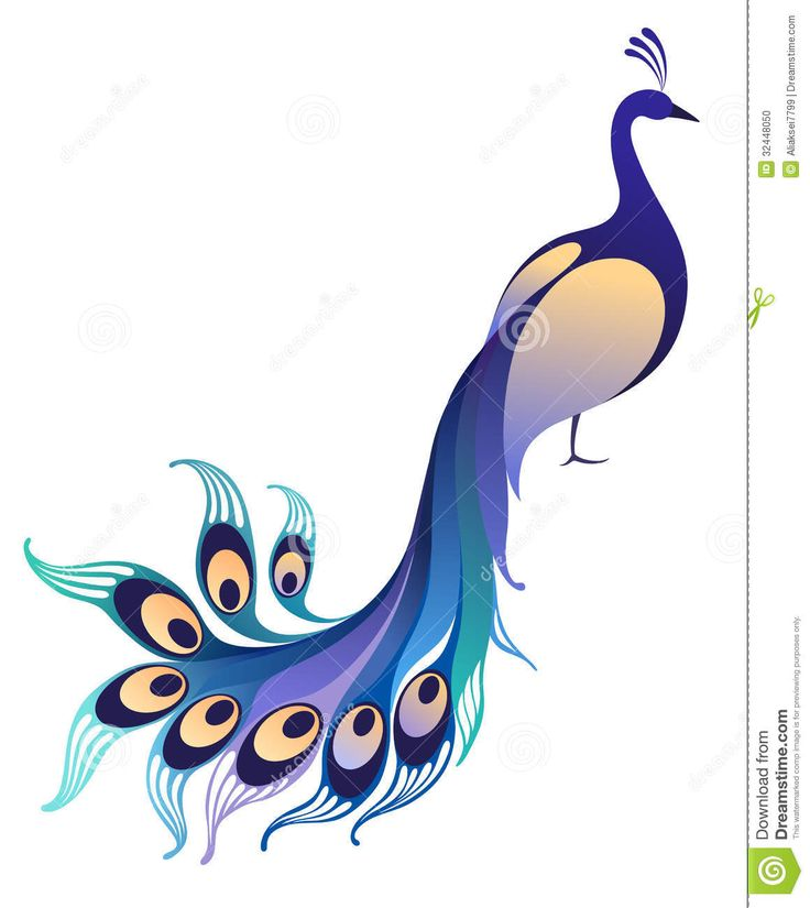 Peacock Clipart Cartoon Black White | Clipart Panda - Free Clipart ...