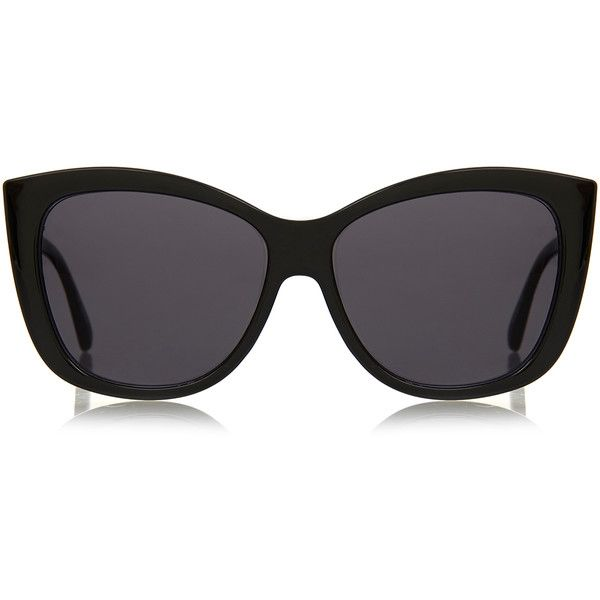 Le Specs Hatter Black Oversized Cat Eye Sunglasses ($33) ❤ liked on Polyvore featuring accessories, eyewear, sunglasses, black, acetate sunglasses, cat eye glasses, cateye sunglasses, oversized retro sunglasses and retro sunglasses