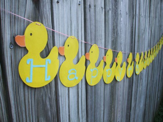 Customize Rubber Duck Birthday or baby shower banner