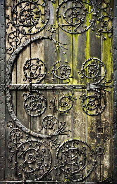 Mossy old door