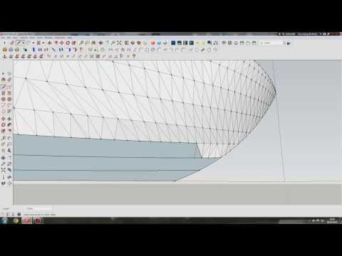 modeling a boat hull in sketchup - YouTube