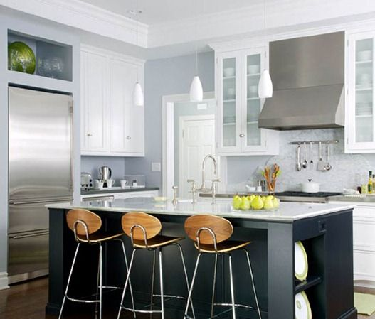 A couple of months ago a friend and I were discussing painting her oak kitchen cabinets and one thing I recommended was to (at a minimum) paint her kitchen island. Kitchens with both painted and wood surround will benefit from the modern look of an island painted in a completely different color. Galley or small [...]