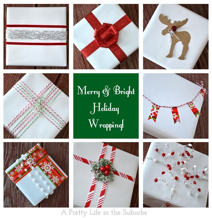 Holiday Gift Wrapping Ideas Merry u0026 Bright