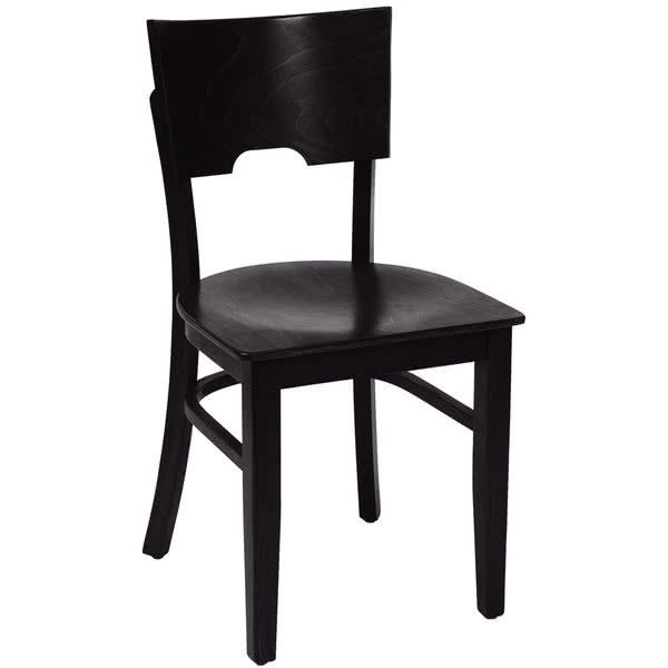 $72.90/Each BFM Seating SWC304EB-EB Weston Ebony Colored Beechwood Side Chair