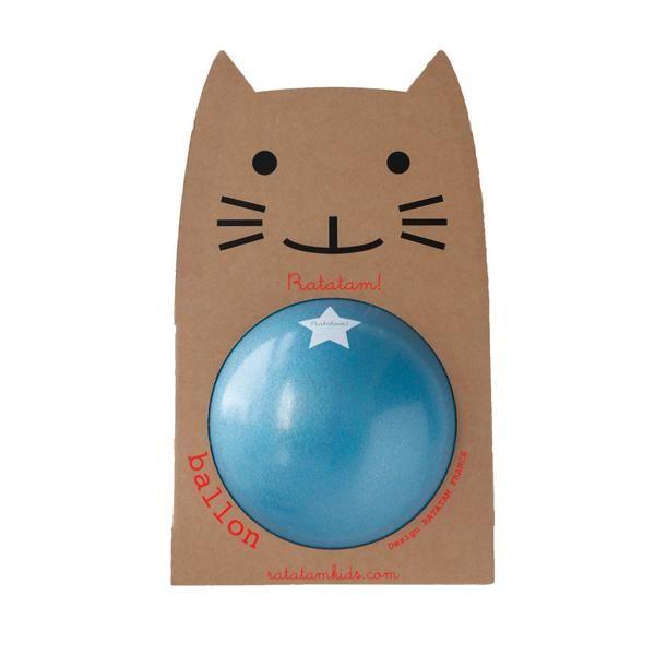 Ratatam bold, blå glitter - 25 cm