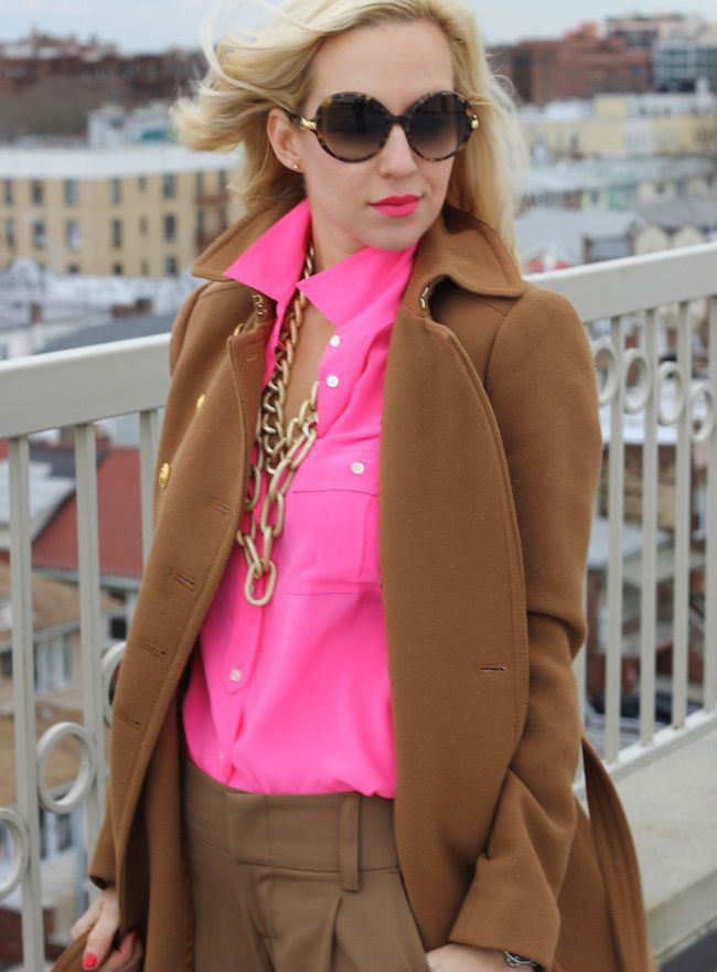 Ahhh!  I saw this shirt at J.Crew and was instantly drawn to it because, of course, it's hot pink.  Love!