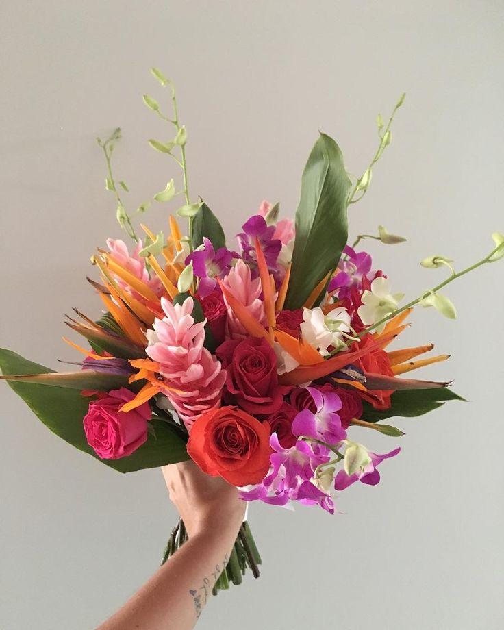CBR444 wedding Riviera Maya colorful and tropical flowers for bouquet/ ramo de flores tropicales y coloridas ramo de novia