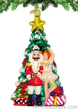 Nutcracker Christmas Tree Glass Ornament Transport yourself into the  magical world of Tchaikovsky's Nutcracker with our