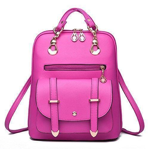 Oferta: 17.8€. Comprar Ofertas de YIMOJI - Bolso mochila  de Piel para mujer Negro Rot (Rose Red) barato. ¡Mira las ofertas!