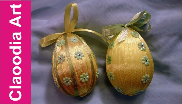 Jak opleść wstążką jajko styropianowe? [egg ribbon]