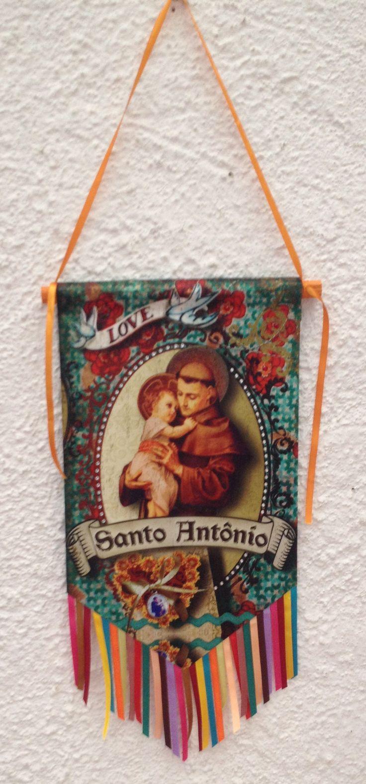 Bandeira Santo - Santo Antonio