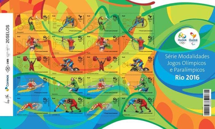 """Coleção de selos olímpicos é lançada nos 500 dias - Jornal O Globo ~~  As Olimpíadas vão além das competições nas arenas e pistas, mesclando-se à cultura dos países onde são sediados. Com a edição brasileira, não será diferente. Para a Rio 2016, o Comitê Organizador e os Correios lançam hoje os primeiros dez selos da coleção """"Modalidades esportivas"""", a 500 dias dos Jogos, na sede do Comitê Organizador da Rio 2016."""