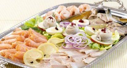 Kalte Platte mit Fisch