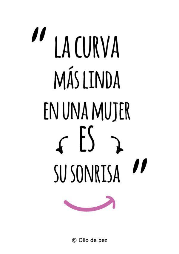 """""""La curva más linda en una mujer, es su sonrisa"""" (Bob Marley) #frases"""