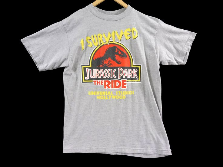 VTG 1996 Jurassic Park The Ride T-Shirt - Large - Universal Studios Hollywood - 90s - Spielberg - Vintage Tee - Vintage Clothing - by BLACKMAGIKA on Etsy