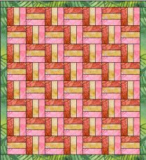 Bella Quilting Split Rail Fence Pattern-has simple instructions and yardage requirements