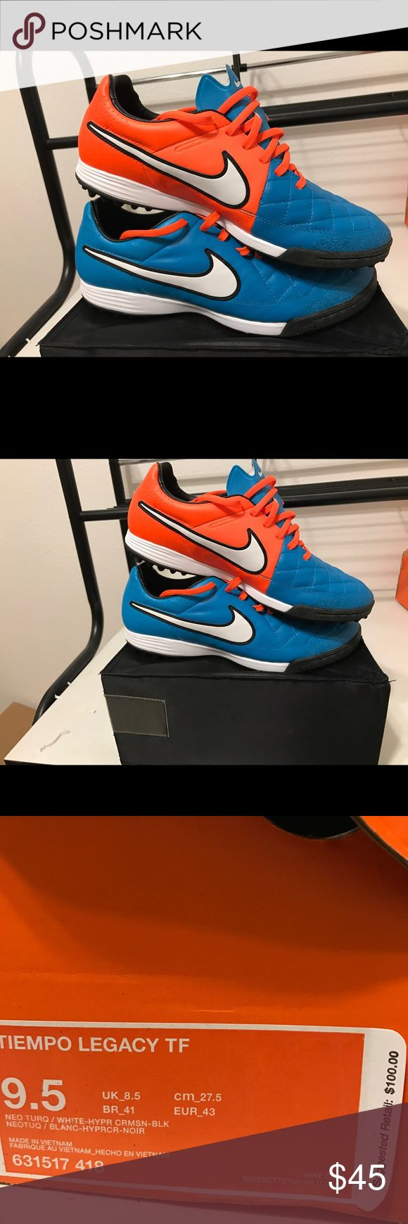 Men's Nike turf shoes indoor soccer Men's size 9.5 turf shoes. Never worn, still in box. Primary purpose for indoor soccer, but can be used otherwise. Nike Shoes Athletic Shoes