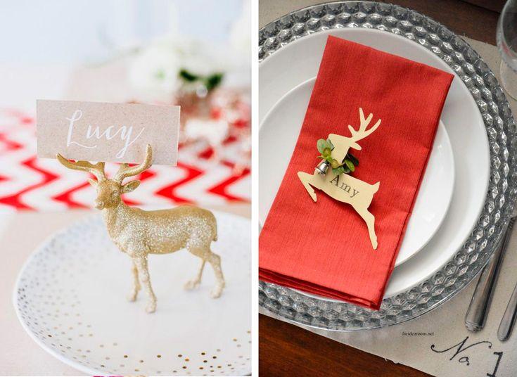 Segnaposto natalizio fai da te creato con le renne | Christmas DIY placeholder made with reindeer • #DIY #placeholder #christmas #reindeer