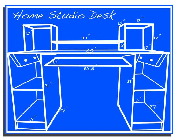 How to build a home recording studio desk.