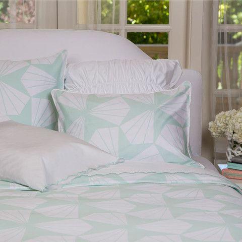Great Site For Designer Bedding | Taylor Mint Green Duvet | Mint Green  Bedding