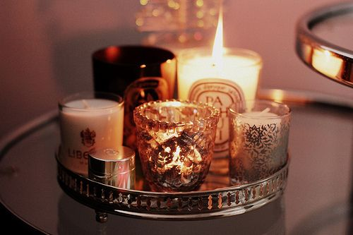 CandlesDreams Bedrooms, Decor Ideas, Silver Trays, Christmas Candles, Scented Candles, Design Home, Master Bathroom, Candles Arrangements, Wax Lights