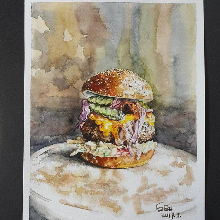 """좋아요 86개, 댓글 9개 - Instagram의 Youyeong.Seo(@blibla_art)님: """". #JamieOliver 's #insanity #burger 🍔 #insanityburger #food #맛스타그램 #먹스타스램 #먹방 #햄버거 #수제버거…"""""""