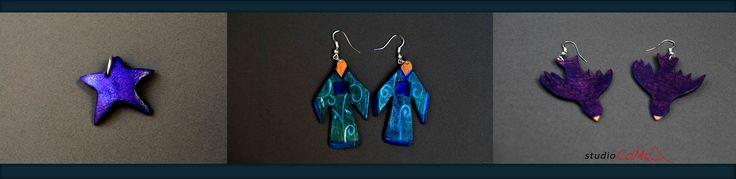 blue #accessorizes: stars, kimono and birds!  #earrings #stars  @studiocamadesign