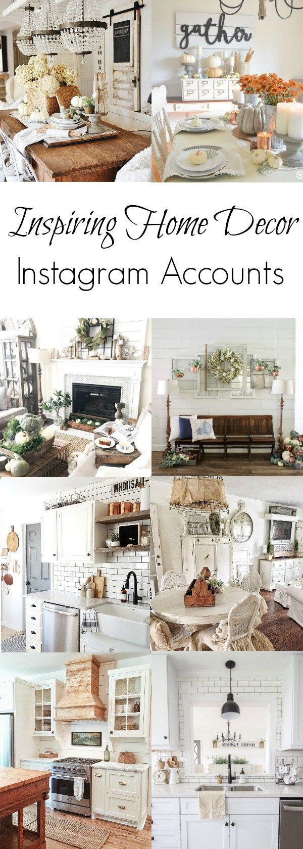 10 inspiring home decor Instagram accounts with farmhouse and vintage charm. If you are looking for inspiration, these are accounts to follow.