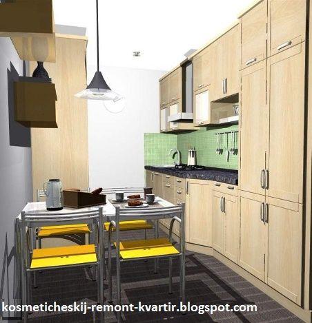 Косметический ремонт квартир: Какой цвет выбрать для кухни: коричневый, зеленый или желтый
