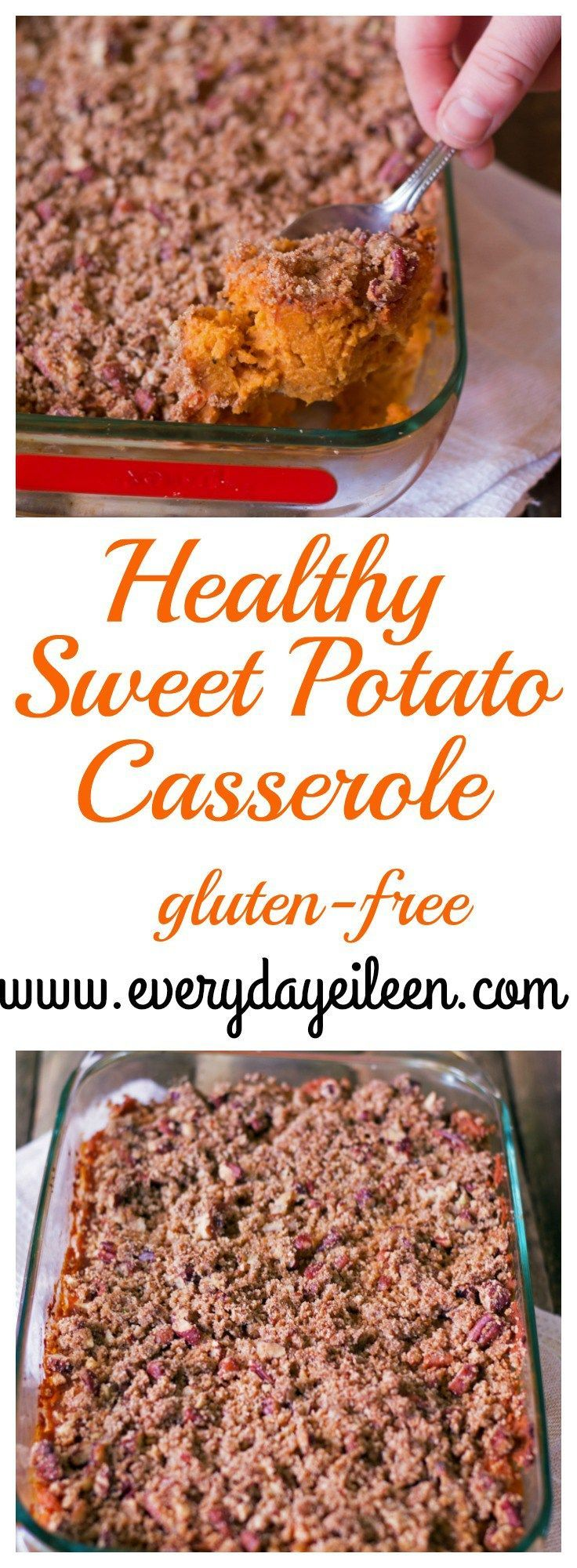 Healthy sweet-potato-casserole is an easy dish to prepare. Blends sweet and savory flavors that make a yummy side for any meal. Perfect for Thanksgiving and any Holiday table! Gluten-free and low-calorie