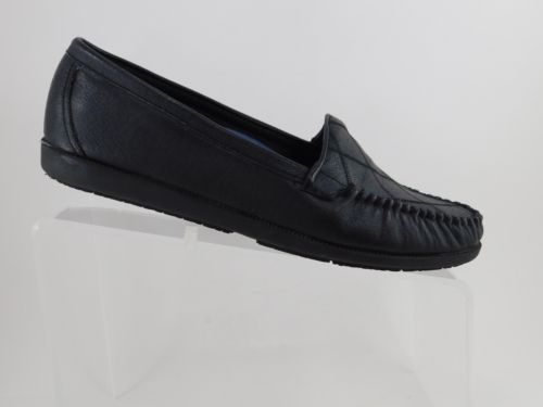 dd0df8c99c Comfort-Walkables-Loafers-Black-MocToe-Leather-Womens-Shoes-Size-US-8-5-EU -39