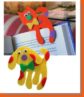 cat & dog bookmarks for kids