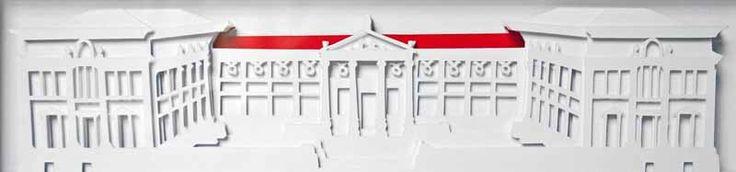 Junction Art Gallery -  Kate Hipkiss 'Ashmolean' layered papercut