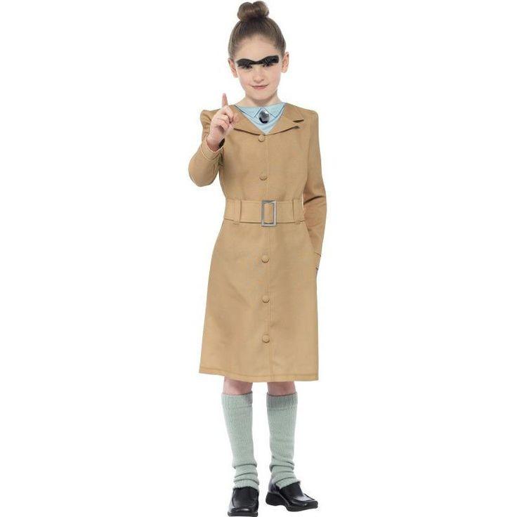 Kids Girls Roald Dahl Miss Trunchbull Costumes Sizes Medium or Large by Smiffys Fancy Dress 27147