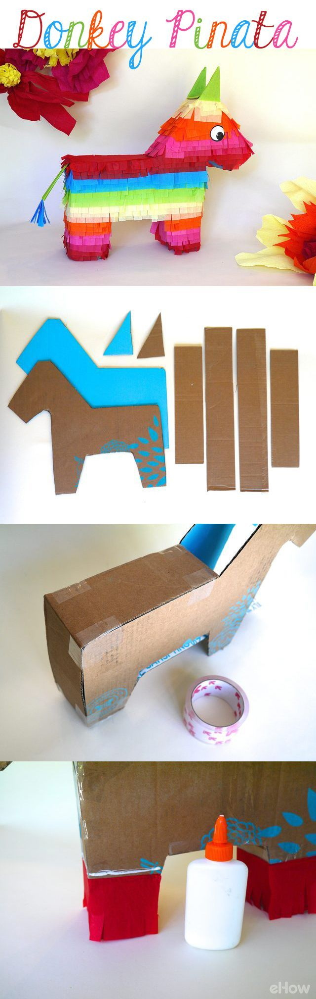 DIY your own traditional donkey pinata for any summer party and, obviously, Cinco de Mayo! So easy to make once you check out this tutorial! Get the kids involved for a fun afternoon craft: http://www.ehow.com/how_5022697_make-donkey-pinata.html?utm_source=pinterest.com&utm_medium=referral&utm_content=inline&utm_campaign=fanpage