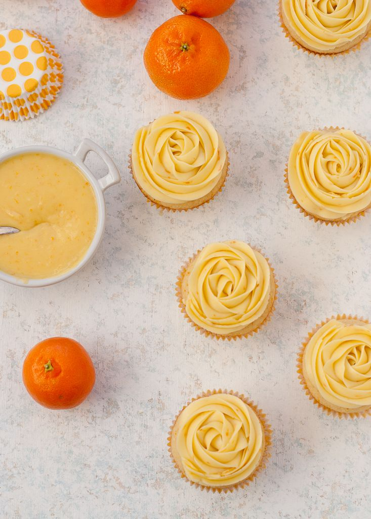 how to make orange cupcakes from scratch