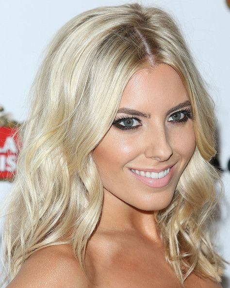 We're loving Mollie King's platinum waves!