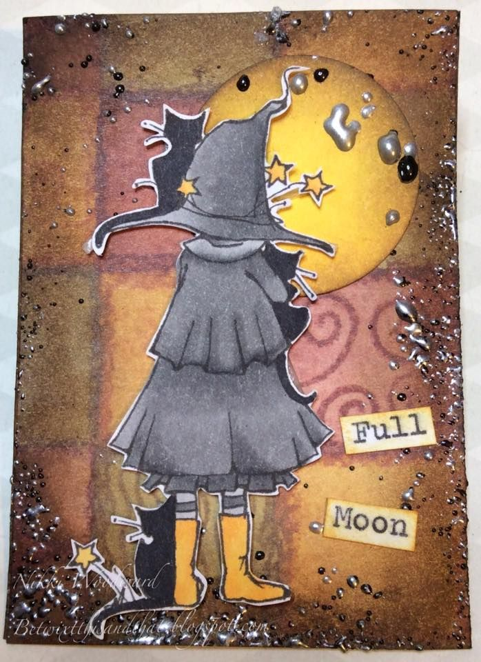Little Witch Waiting from A Day for Daisies features in this creepy or cute Halloween ATC.