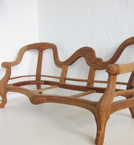 Victorian Carved Settee / Double End Carved Leg Settee / Dutch Connection