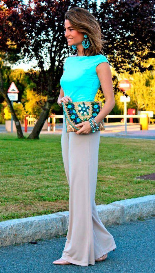 Esta temporada con infinidad de modelos de pantalones Palazzo. Con tejidos vaporosos y con elegante caída