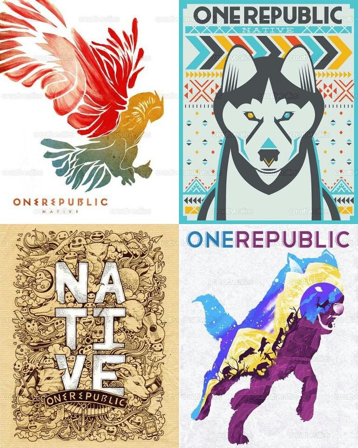 OneRepublic Native album. I want the top right one on a shirt. :) Really any OneRepublic t-shirt would be awesome!