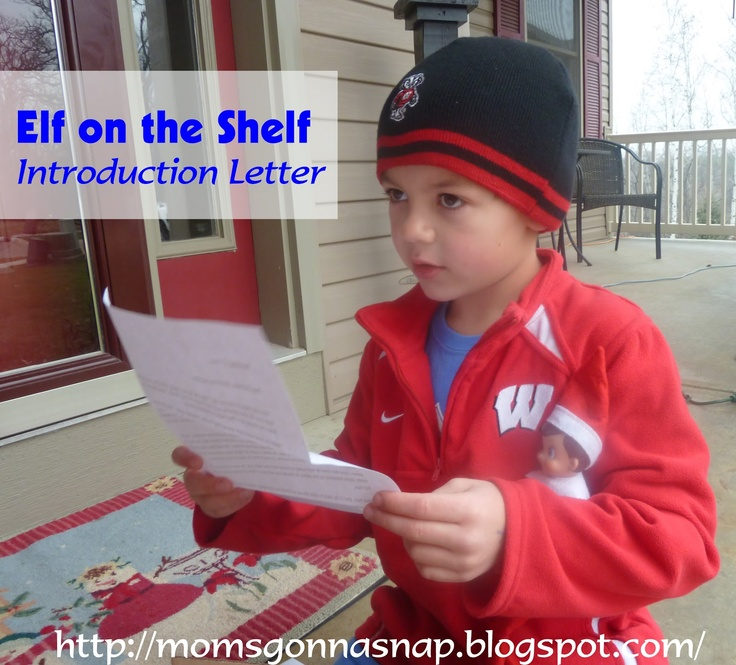 Elf on the Shelf Introduction Letter: Shelf Intro, Elf On Shelf, Intro Letters, Holidays Ideas, Funny Photo, Arrival Letters, Shelf Ideas, Christmas Ideas, Elf On The Shelf