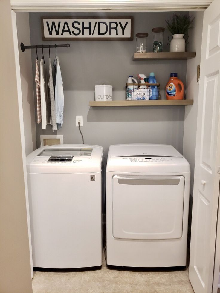 76 Awesome Tricks For Laundry Room For Small Spaces 13 Centralcheff Co Laundry Closet Makeover Laundry Room Design Laundry Room Remodel