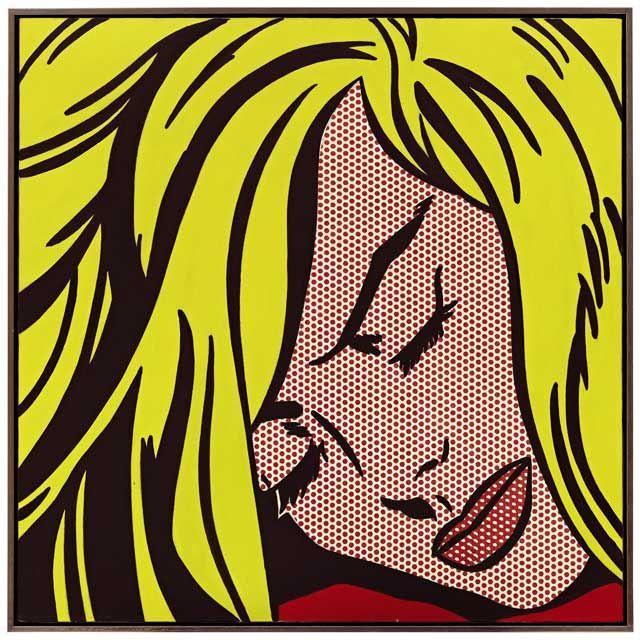 Roy Lichtenstein Спящая девушка