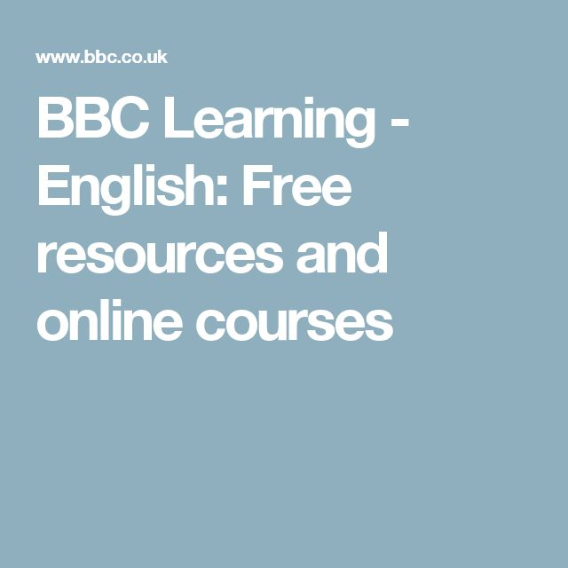 BBC Learning - English: Free resources and online courses