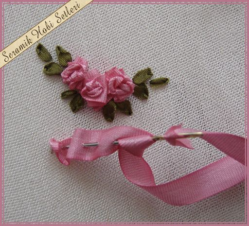 series of ribbon rose tutorials