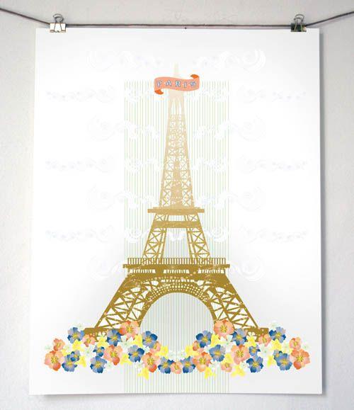 Paris print.: Geography Prints, Almost P L Paris Full Best, Floral Eiffel, Eiffel Towers, Design Mom, Paris Prints, 500 579 Pixel, P L Paris Full Best Jpeg, Ivy Rooms