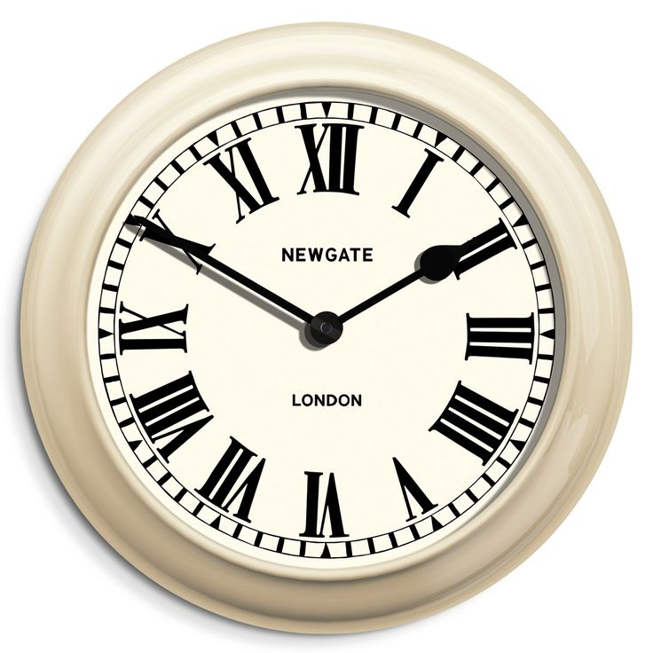 the sea wall clock by newgate clocks a large classic indoor outdoor wall clock with roman dial and cream metal case